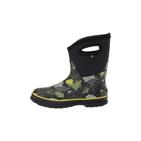 Bogs ボグス レディース 女性用 シューズ 靴 ブーツ レインブーツ Classic Mid Tulip - Black Multi