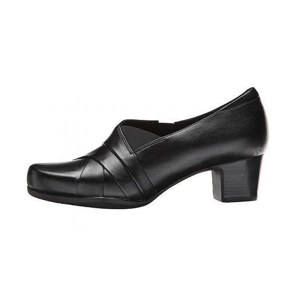 Clarks クラークス レディース 女性用 シューズ 靴 ローファー ボートシューズ Rosalyn Adele - Black Leather