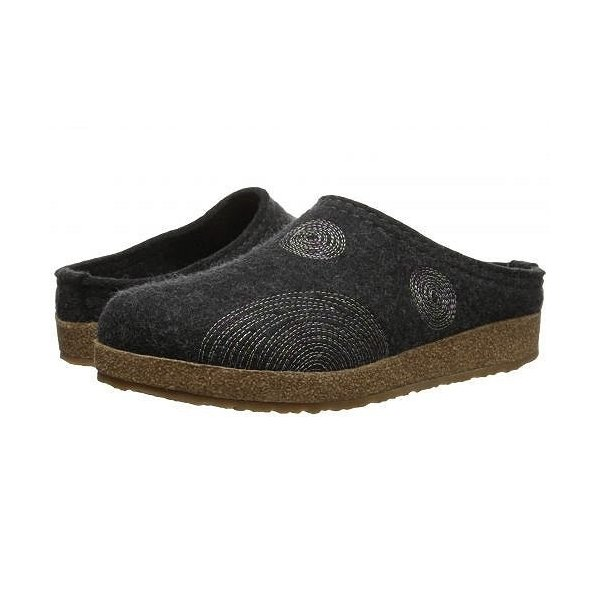 Haflinger ハフリンガー レディース 女性用 シューズ 靴 クロッグ ミュール Spirit - Charcoal