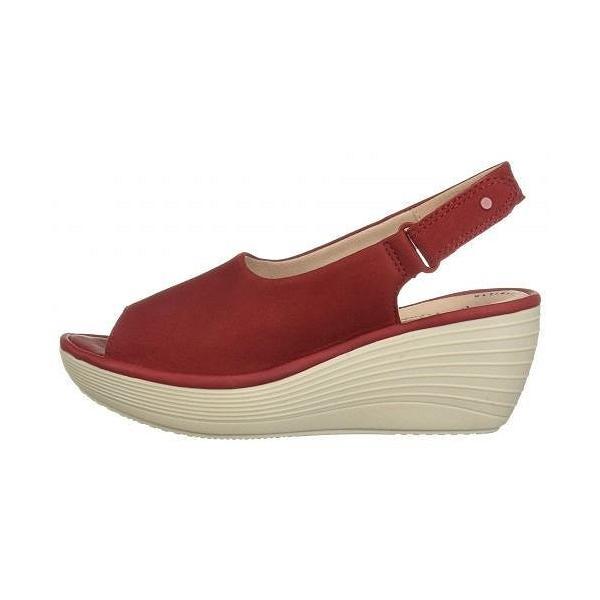 Clarks クラークス レディース 女性用 シューズ 靴 ヒール Reedly Shaina - Red Nubuck