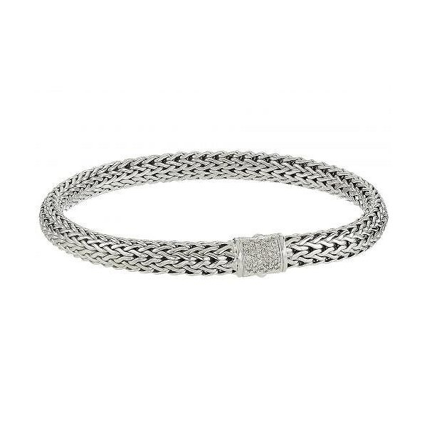 John Hardy レディース 女性用 ジュエリー 宝飾品 ブレスレット Classic Chain 6.5mm Bracelet with Diamonds - Silver