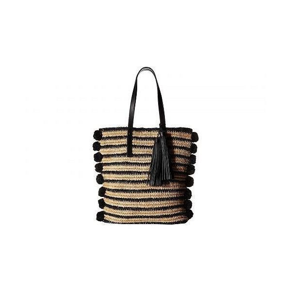 Loeffler Randall ロフラーランドール レディース 女性用 バッグ 鞄 トートバッグ バックパック リュック Raffia Cruise Tote - Natural/Black