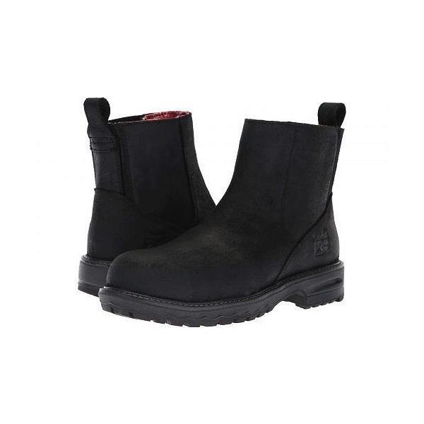 Timberland PRO ティンバーランド レディース 女性用 シューズ 靴 ブーツ 安全靴 ワークブーツ Hightower Chelsea Comp Safety Toe SD+ - Black Distressed|ilovela