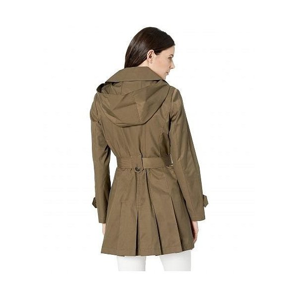 Via Spiga ヴィアスピーガ レディース 女性用 ファッション アウター ジャケット コート レインコート Single Breasted Hooded Belted Trench - Sage