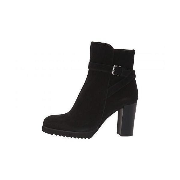 La Canadienne ラカナディアン レディース 女性用 シューズ 靴 ブーツ アンクルブーツ ショート Meadow - Black Suede/Leather