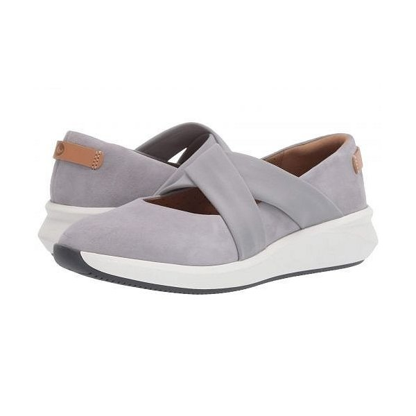 Clarks クラークス レディース 女性用 シューズ 靴 フラット Un Rio Cross - Light Grey Suede
