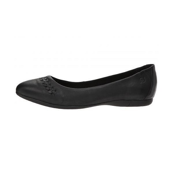Born ボーン レディース 女性用 シューズ 靴 フラット Madeleine - Black Full Grain Leather
