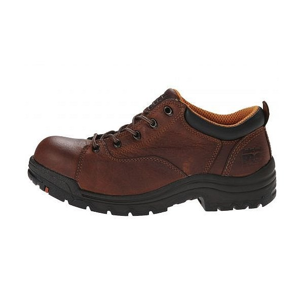 Timberland PRO ティンバーランド レディース 女性用 シューズ 靴 オックスフォード 紳士靴 通勤靴 TiTAN(R) Oxford Alloy Safety Toe - Brown Full-Grain