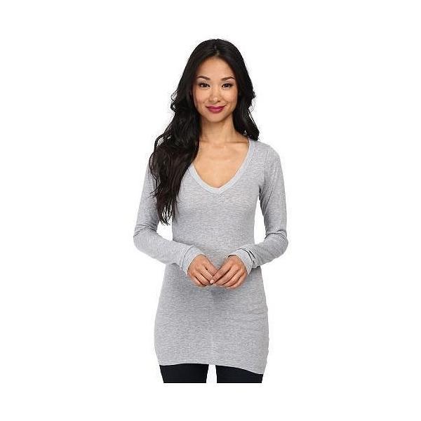 LAmade エルエーメイド レディース 女性用 ファッション Tシャツ Fitted V-Neck Tee - Heather Grey