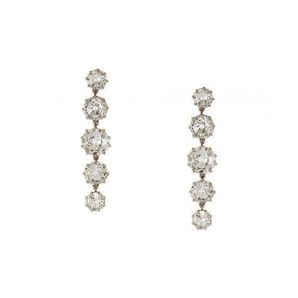 J.Crew レディース 女性用 ジュエリー 宝飾品 イヤリング Crystal Drop Earrings - Crystal