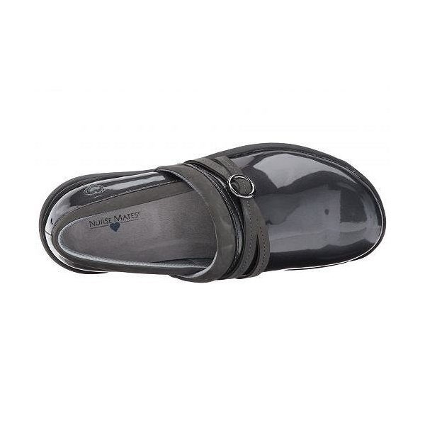 Nurse Mates ナースメイツ レディース 女性用 シューズ 靴 クロッグ ミュール Ceri - Grey Patent