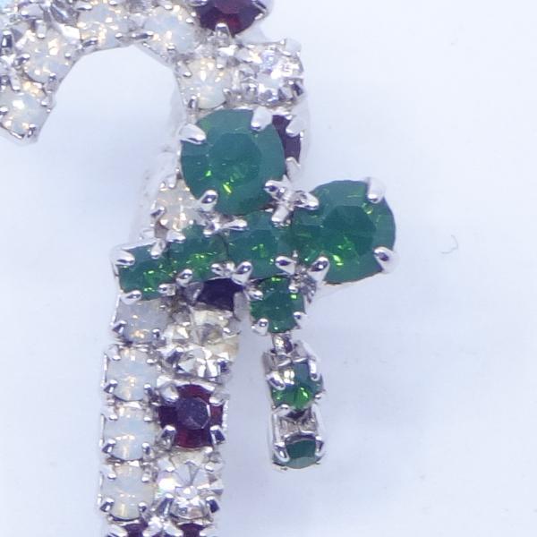 (イマック) imac バッジ ラインストーン ステッキ クリスマス 杖 ホワイト レッド グリーン 143166 imac-jewelry 02