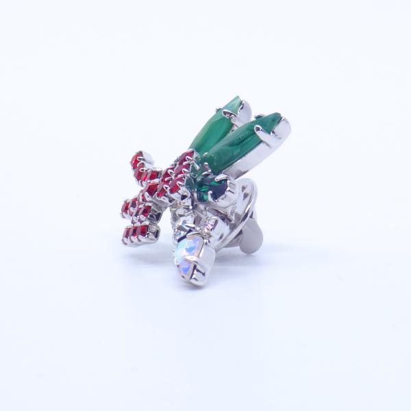 (イマック) imac バッジ ラインストーン キャンドル クリアカラー レッド グリーン 149005|imac-jewelry|08