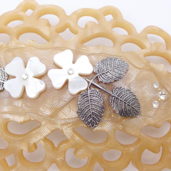 (イマック) imac ヘアバレッタ 白蝶貝 ベージュ ホワイト フラワー 149771|imac-jewelry|02