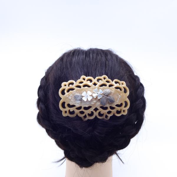 (イマック) imac ヘアバレッタ 白蝶貝 ベージュ ホワイト フラワー 149771|imac-jewelry|04