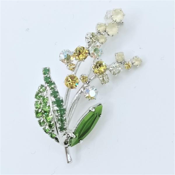 (イマック) imac ブローチ ラインストーン ミモザ イエロー 140094 imac-jewelry