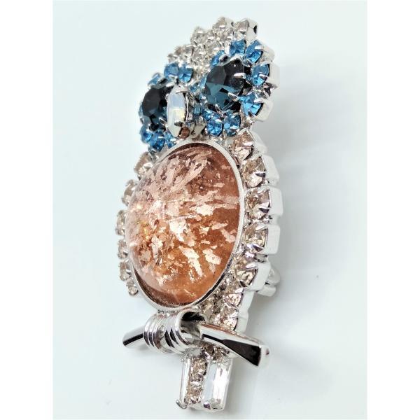 (イマック) imac ブローチ ラインストーン ピンクベージュ ふくろう 2WAY 149883 imac-jewelry 02