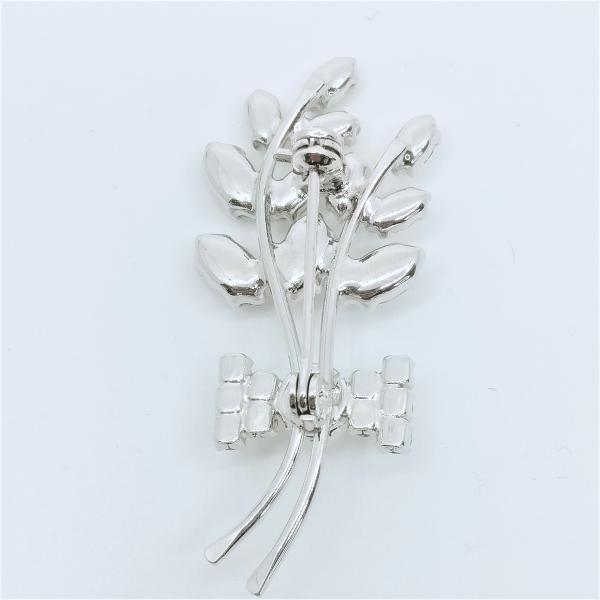 (イマック) imac ブローチ ラインストーン ボタニカル パール クリア 143171|imac-jewelry|02
