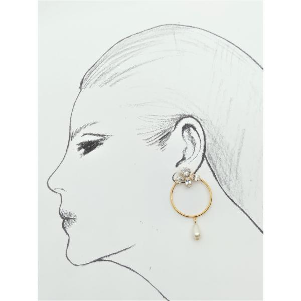(イマック) imac イヤリング ラインストーン パール ゴールド 149838|imac-jewelry|03