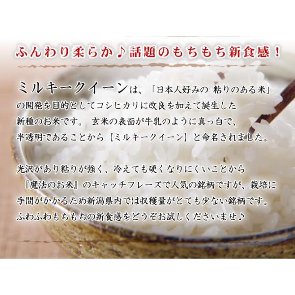 【新米】お米 お試し 新潟産ミルキークイーン 令和元年産 300g×3袋 送料無料 (メール便/代引き不可) 令和|imagi|03