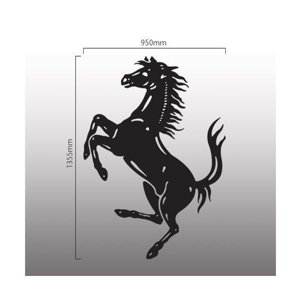 フェラーリ Ferrari 切抜きステッカー  跳馬 縦135.5cm×横95cm|imagine-style