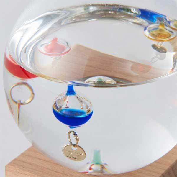 ガリレオ温度計:ドーム型ガラスフロート温度計S〜郵送可¥500|imanando|03