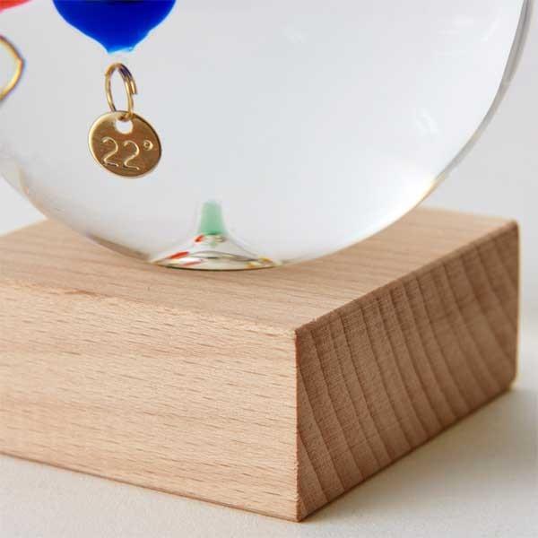 ガリレオ温度計:ドーム型ガラスフロート温度計S〜郵送可¥500|imanando|04