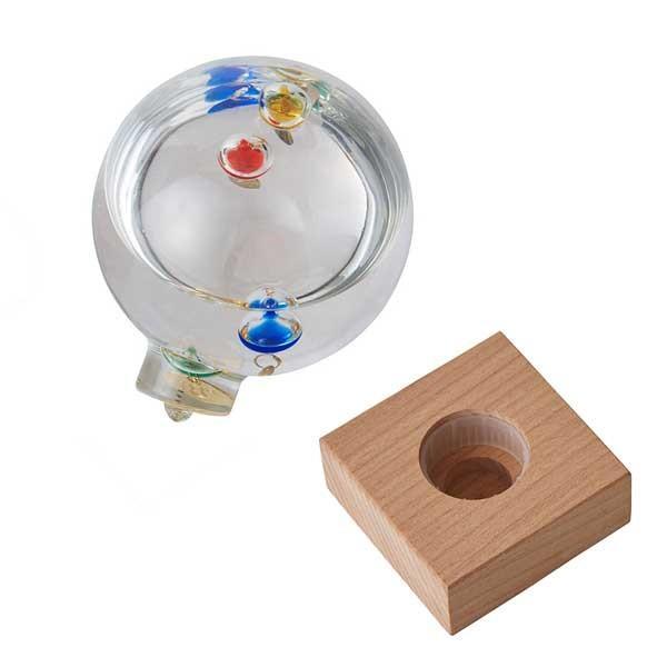 ガリレオ温度計:ドーム型ガラスフロート温度計S〜郵送可¥500|imanando|05
