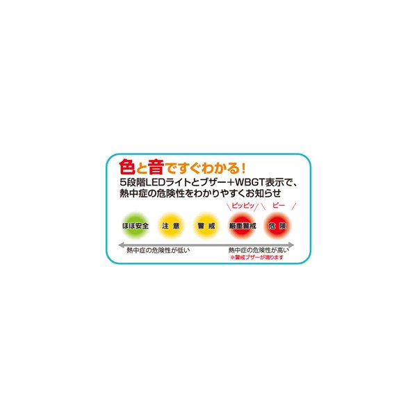 WBGT計 携帯型 黒球付熱中症計 温度計 6913 即納 JIS 〒郵送可¥320|imanando|03