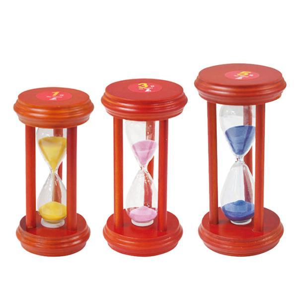 砂時計 1分計/3分計/5分計 木枠 サンドタイマー 〒郵送可¥320