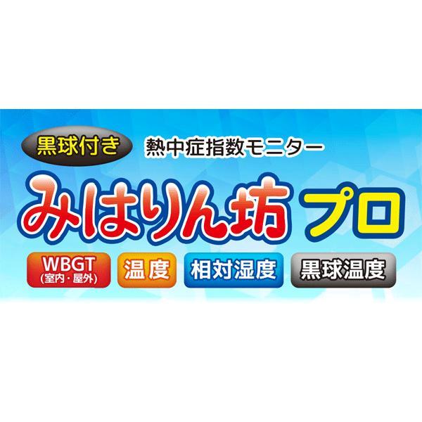 WBGT計 A&D 黒球付熱中症計指数モニター みはりん坊プロ AD-5698 アラーム JIS 郵送可¥320|imanando|02