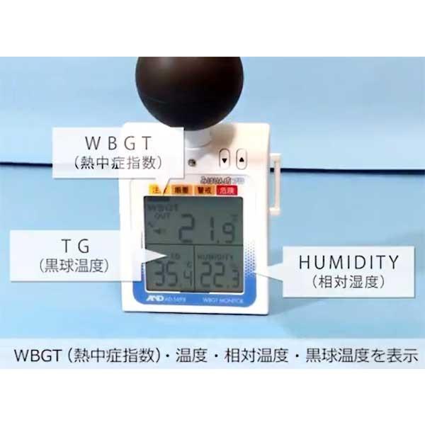 WBGT計 A&D 黒球付熱中症計指数モニター みはりん坊プロ AD-5698 アラーム JIS 郵送可¥320|imanando|05