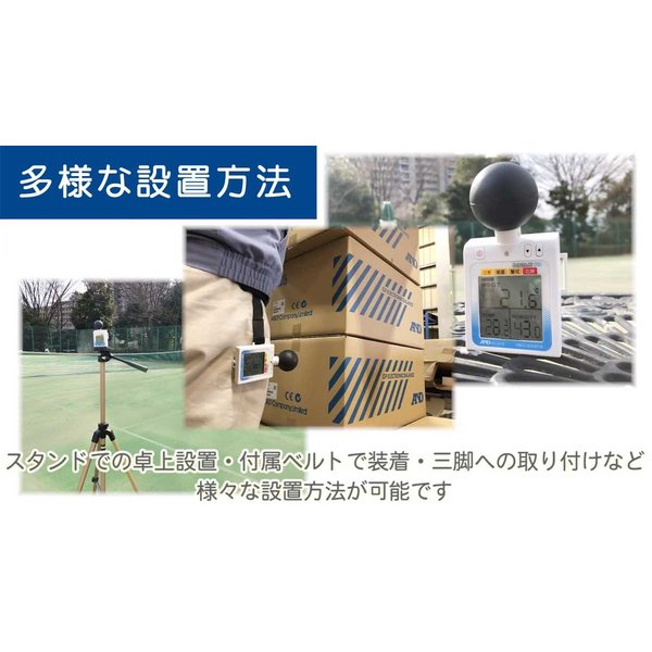 WBGT計 A&D 黒球付熱中症計指数モニター みはりん坊プロ AD-5698 アラーム JIS 郵送可¥320|imanando|06