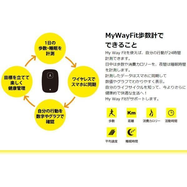 歩数計:消費カロリー・睡眠時間も測定できる「My Way Fit 歩数計」〜〒郵送可¥320|imanando|03