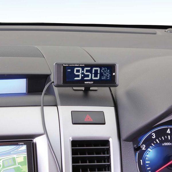 車用時計 電波時計 デジタルクロック Fizz-1075/Fizz-1083 車載用 〒郵送可¥320|imanando|02