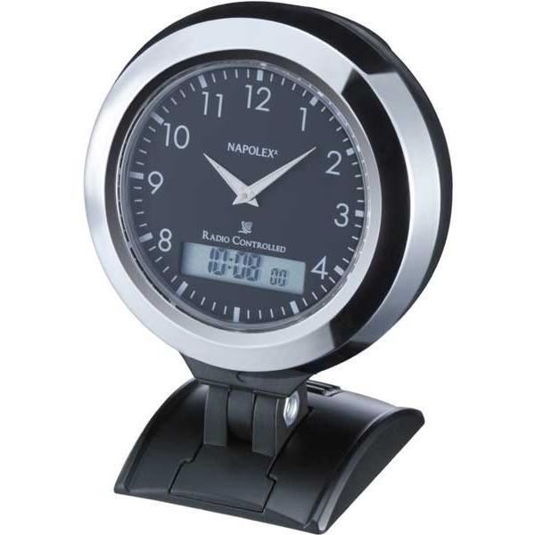 電波時計:ナポレックス車用電波時計Fizz-844〜在庫切れ:〒郵送可¥320|imanando