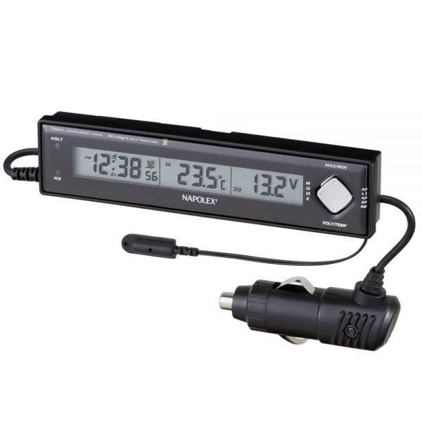 VTメータークロック 車用電圧計 電波時計 温度計 車外 Fizz-890 車載用 〒郵送可¥320 imanando