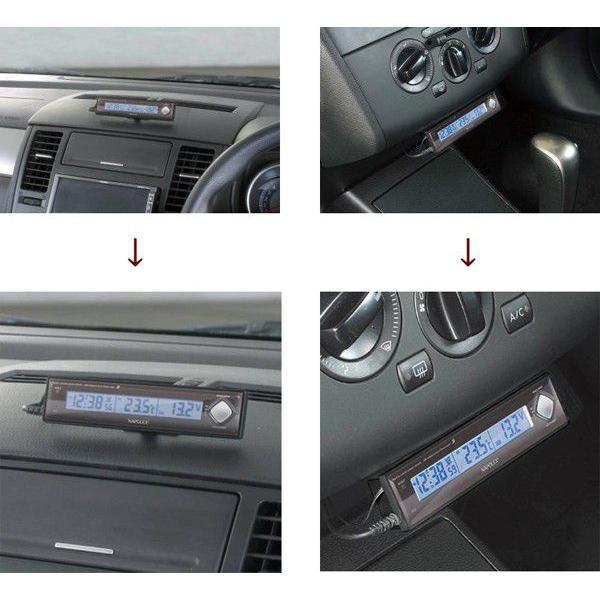 VTメータークロック 車用電圧計 電波時計 温度計 車外 Fizz-890 車載用 〒郵送可¥320 imanando 02