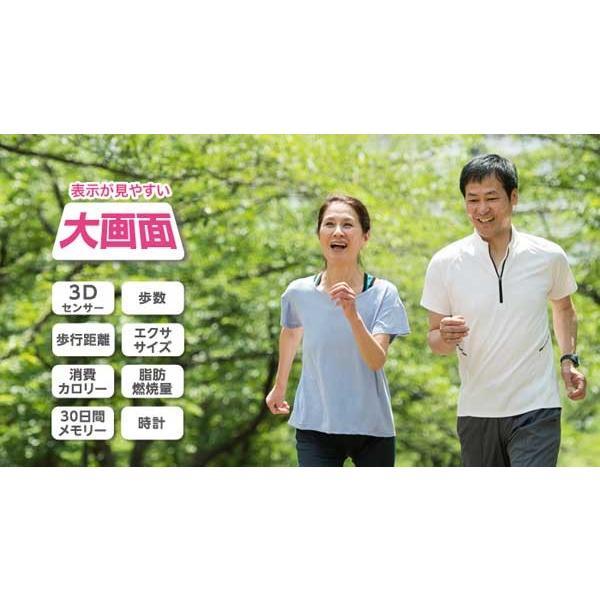 歩数計:シンプル簡単な大画面歩数計 H-235〜〒郵送可¥320 imanando 03
