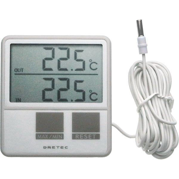 冷蔵庫温度計 外部センサー デジタル温度計 O-215WT 〒郵送可¥320|imanando