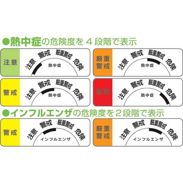 温湿度計 熱中症計 インフルエンザ 携帯 デジタル温湿度計 O-244 〒郵送可¥320 imanando 03