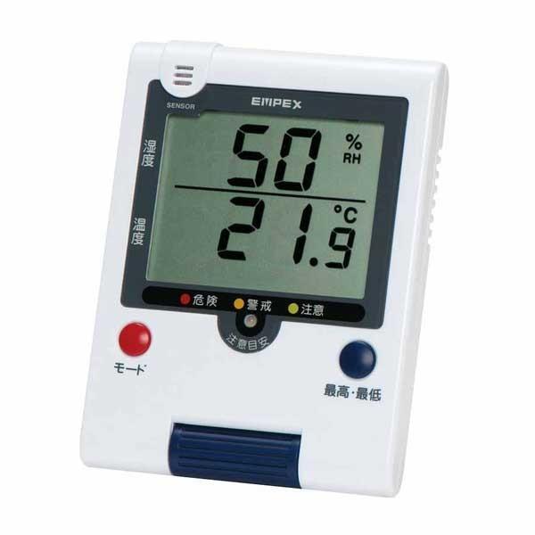 熱中症計&季節性インフルエンザ計つきデジタル温湿度計TD-8188〜郵送可¥320|imanando