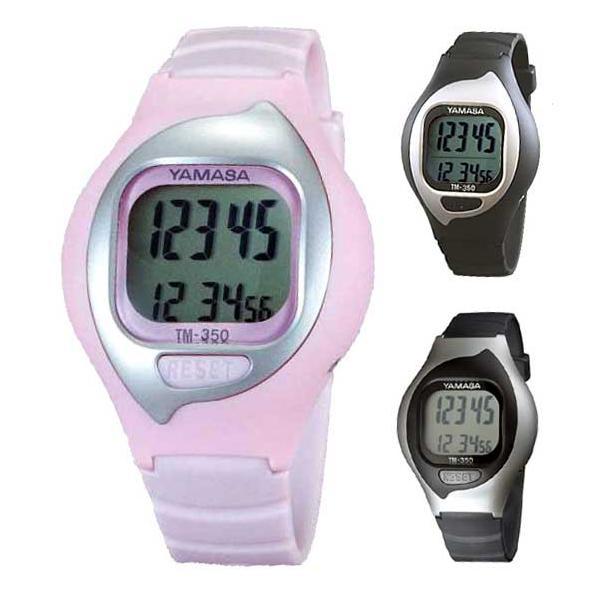 歩数計:ヤマサ腕時計式万歩計「とけい万歩」TM-350〜〒郵送可¥320|imanando
