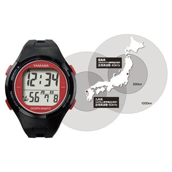 歩数計:ヤマサ電波時計つき腕時計式万歩計TM-450〜〒郵送可¥320|imanando|05