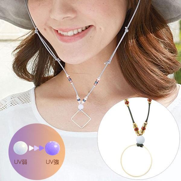 UVチェッカー:帽子が風で飛ぶのを防止するハットクリップ〜〒郵送可¥320|imanando