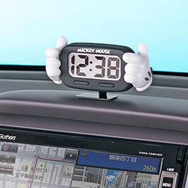 車載用時計 ミッキー 手 デジタルクロック WD-327 9月中旬頃入荷予定:〒郵送可¥320 imanando