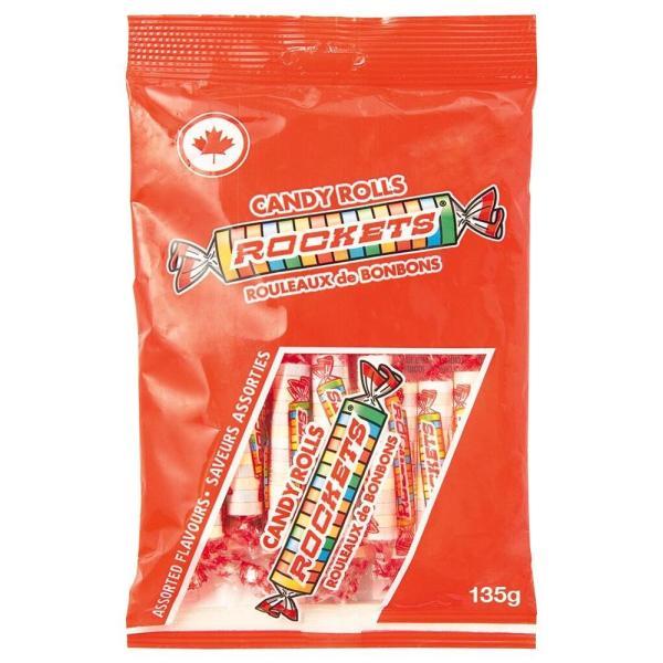 ROCKETS(ロケッツ) キャンディーロール 135g×12個セット(同梱・代引き不可)