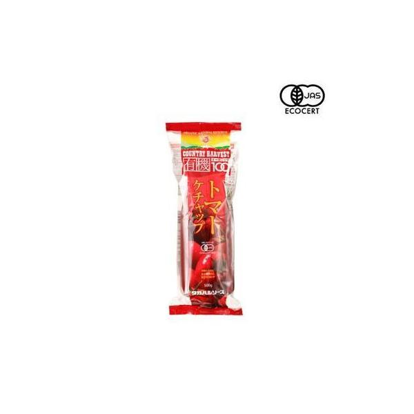 タカハシソース カントリーハーヴェスト 有機トマトケチャップ 500gソフト 10本セット 017135(同梱・代引き不可)