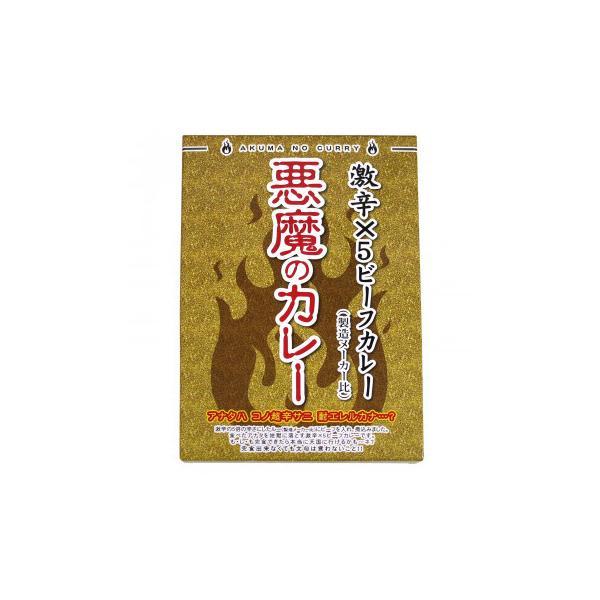 北都 激辛×5 ビーフカレー 悪魔のカレー 180g 10個セット(同梱・代引き不可)