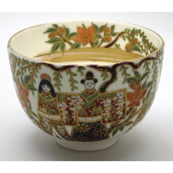 茶道具 抹茶茶碗 ひな祭り 立雛 清閑寺窯 雛祭り 桃の節句